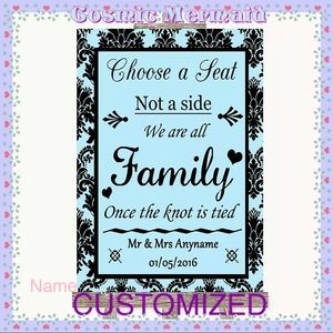 Other - SMALL🆕💙PERSONALIZED DAMASK WEDDING SIGN💙PRINTED